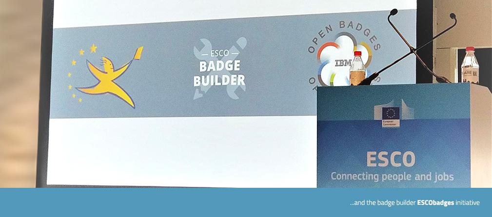 Cognizone ESCO v.1 launching Conference Badge builder ESCO Badges